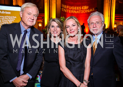 Chris and Kathleen Matthews, Mariela Trager, Wolf Blitzer.  Photo by Tony Powell. Refugees International 32nd Annual Dinner. Mellon Auditorium. May 5, 2011