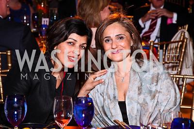 Rina Amiri, Darya Nasr. Photo by Tony Powell. Refugees International 32nd Annual Dinner. Mellon Auditorium. May 5, 2011