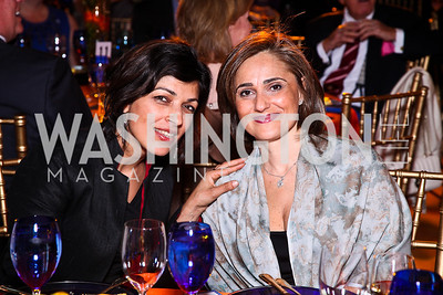 Rina Amiri, Darya Nasr. Photo by Tony Powell. Refugees International 32nd Annual Dinner. Mellon Auditorium. May 5, 2011