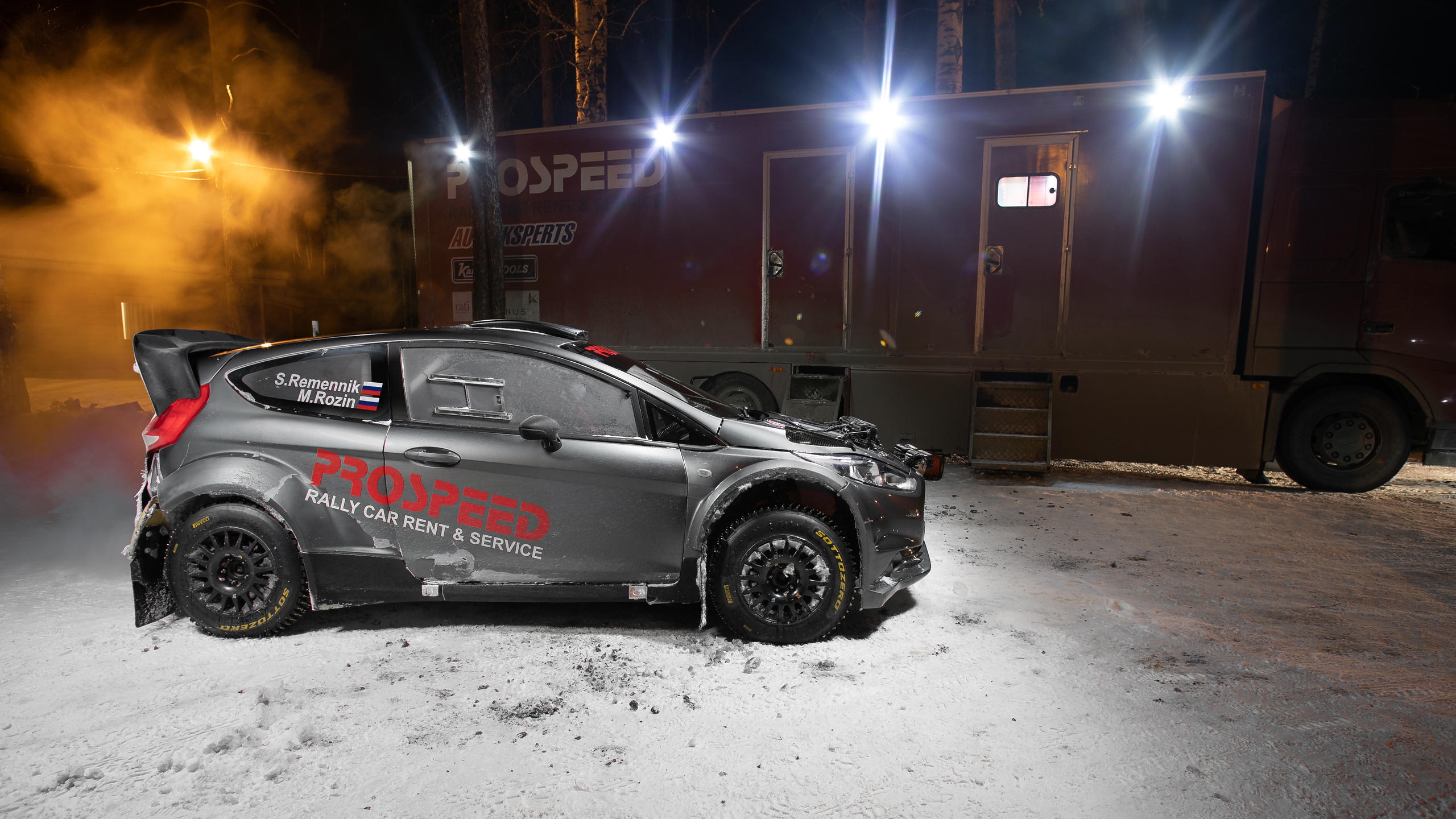 Winter tale in a malachite forest: Sergei Remennik and Mark Rozin start at the fifth round of Russian Rally Cup