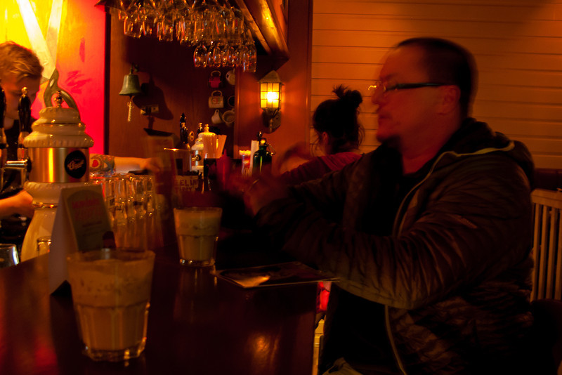 White Russians at the Lebowski bar in Reykjavik.