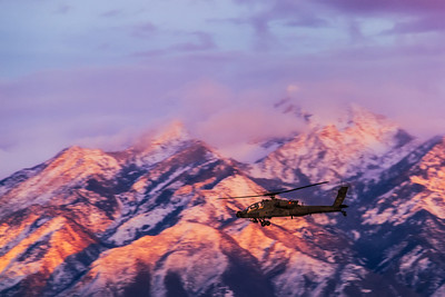 AH-64 Apache out for a sunset stroll