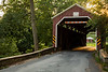 Zook's Mill Covered Bridge was built by Henry Zook in 1849. The bridge spans 74 feet over the Cocalico Creek. Lancaster County, PA<br /> <br /> PA-120704-0022