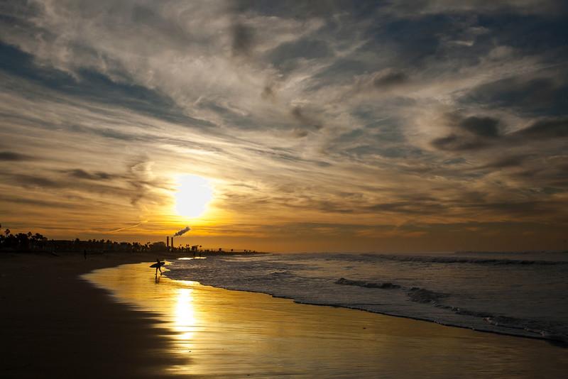SUNRISE  HUNTINGTON BEACH  PIER