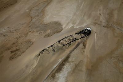 Shipwreck By Ugab River Mouth