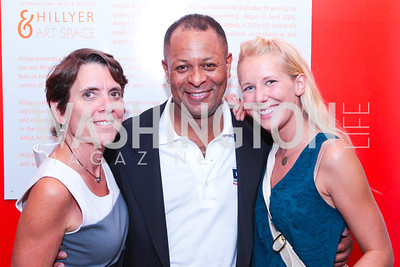 Gail Ross, Gerald Thompson, Bethany Haas. Sacha Scoblic's UNWASTED Book Launch Party. International Arts & Artists. Photo by Alfredo Flores. July 27, 2011