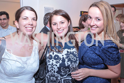 Janet Minichiello, Alexa McMahon, Anna Sproul. Sacha Scoblic's UNWASTED Book Launch Party. International Arts & Artists. Photo by Alfredo Flores. July 27, 2011