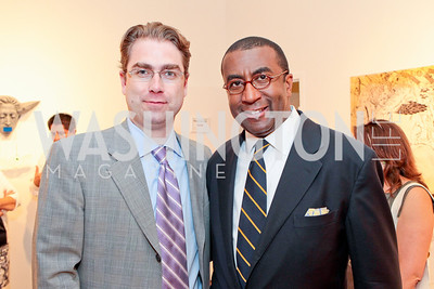 Peter Scoblic, Eric Motley. Sacha Scoblic's UNWASTED Book Launch Party. International Arts & Artists. Photo by Alfredo Flores. July 27, 2011