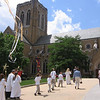 End of procession around Cathedral