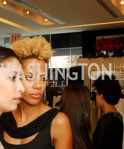 Michelle Ochs, Carly Cushnie, December 4, 2011, Saks Jandel Fashion Show Benefiting Children's National Medical Center.