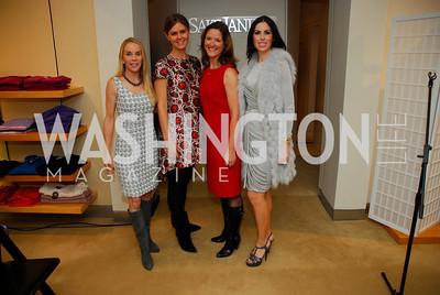 Cindy Jones, Mae Grennan, Pam King-Sams, Amy Baier, December 4, 2011, Saks Jandel Fashion Show Benefiting Children's National Medical Center.