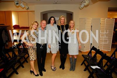 Stacey Lubar, Ronnie Stewart, Amy Baier, Cynthia Vance, Cindy Jones, December 4, 2011, Saks Jandel Fashion Show Benefiting Children's National Medical Center.