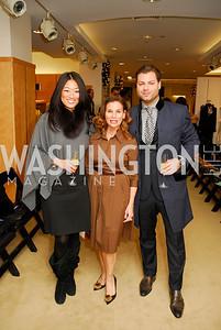 Pamela Sorensen, Linda Erkiletian, Jason Kampf, December 4, 2011, Saks Jandel Fashion Show Benefiting Children's National Medical Center.