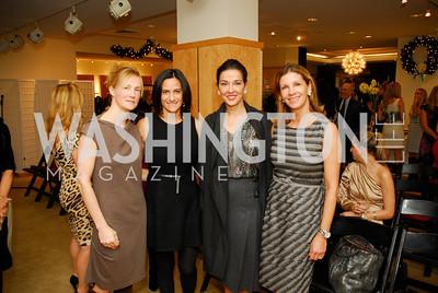 Antigone Davis, Rebecca Fishman, Shelly Galli, Michelle Pablo, December 4, 2011, Saks Jandel Fashion Show Benefiting Children's National Medical Center.