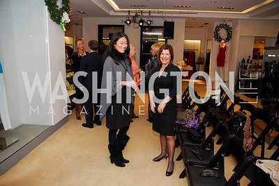 Pamela Sorensen, Constance Christakos, December 4, 2011, Saks Jandel Fashion Show Benefiting Children's National Medical Center.