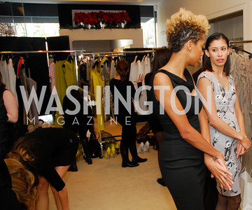 Carly Cushnie, Michelle Ochs, December 4, 2011, Saks Jandel Fashion Show Benefiting Children's National Medical Center.