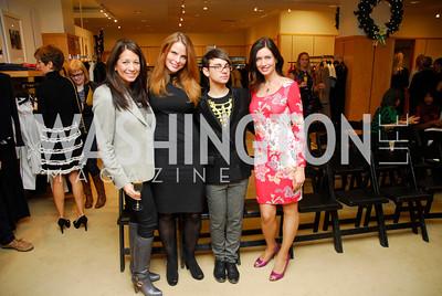 Mona Oswald,Amanda Polk,Christian Siriano, Nina Snow, December 4, 2011, Saks Jandel Fashion Show Benefiting Children's National Medical Center.