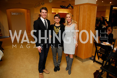 Luke Rozansky  ,Christian Siriano,Cindy Jones, December 4, 2011, Saks Jandel Fashion Show Benefiting Children's National Medical Center.