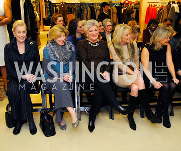 Dotsy Steel,Nina Totenberg,Cheri Doggett,Laurie Monahan,Toni Marx, December 4, 2011, Saks Jandel Fashion Show Benefiting Children's National Medical Center.,Kyle Samperton