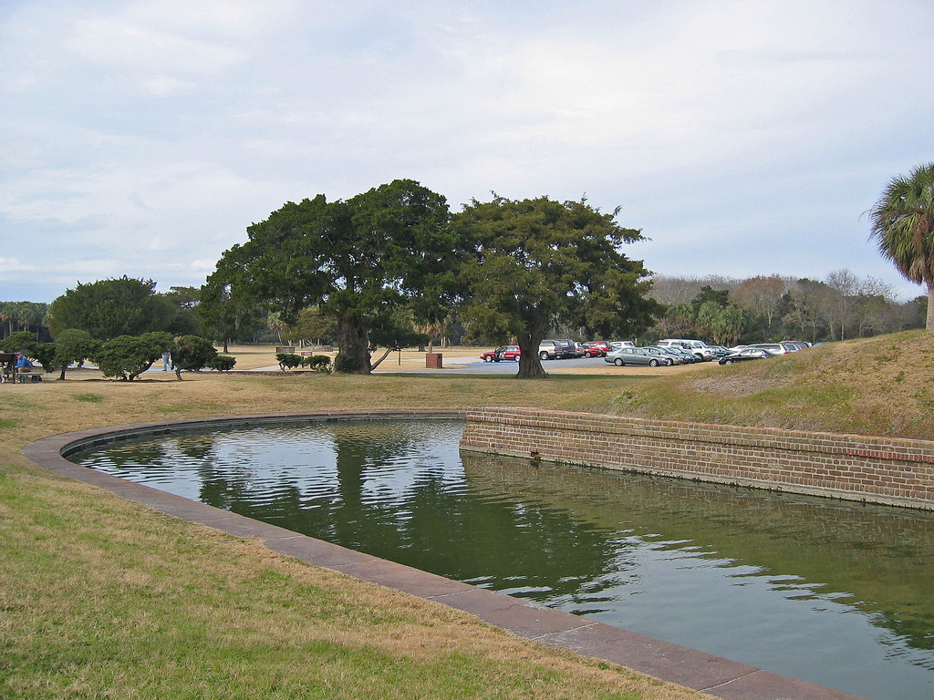 part of the moat surrounding the Fort