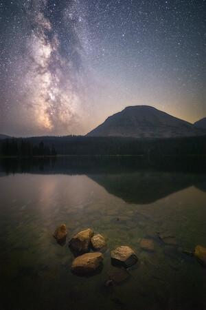 Smoky Night at Mirror Lake