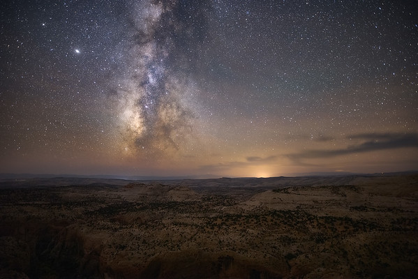 Milky Way over Escalante Landscape