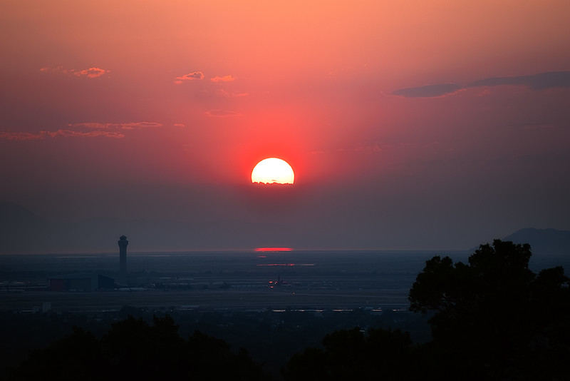 Sunset over SLC airport