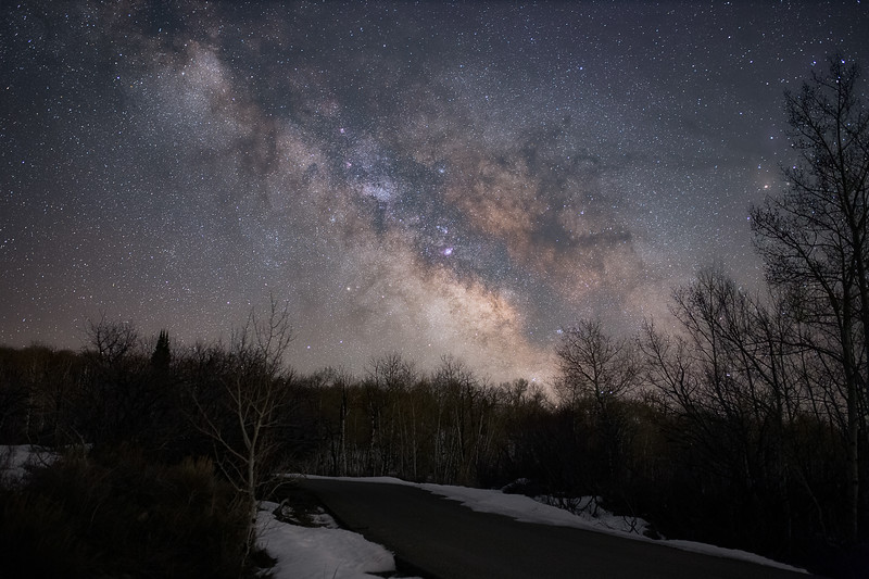 Milky Way over a Rural Road