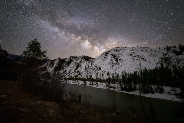 Milky Way over Snake River Canyon