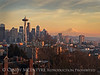 Seattle skyline from Kerry Park at sunset, Jan. 2017