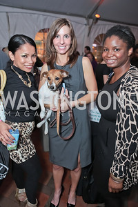 Roma Johnson, Tara de Nicolas, Gaelle Garraway. Second Annual Passport to Style Fall Fashion Showcase and Charity Event. The Shops at Wisconsin Place. October 13, 2011. Photo by Alfredo Flores