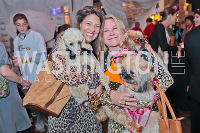 Cynthia Painter, Patricia Carlson with Lucy, Ethel and Senator. Second Annual Passport to Style Fall Fashion Showcase and Charity Event. The Shops at Wisconsin Place. October 13, 2011. Photo by Alfredo Flores