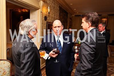 Jim Gale, Wayne Berman, Elliot Berke. Senator Scott Brown Book Party. Photo by Tony Powell. Berman residence. April 6, 2011