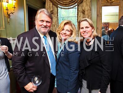 David and Vickie Smick, Cathy Merrill Williams. Senator Scott Brown Book Party. Photo by Tony Powell. Berman residence. April 6, 2011