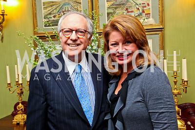 Bob Barnett, Gail Huff. Senator Scott Brown Book Party. Photo by Tony Powell. Berman residence. April 6, 2011
