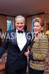 David Deckelbaum, Nancy Brinker. Senator Scott Brown Book Party. Photo by Tony Powell. Berman residence. April 6, 2011