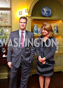 Senator Scott Brown and Gail Huff. Senator Scott Brown Book Party. Photo by Tony Powell. Berman residence. April 6, 2011