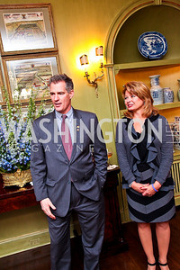 Senator Scott Brown and Gail Huff. Senator Scott Brown Book Party. Photo by Tony Powell. Berman residence. April 6, 2011