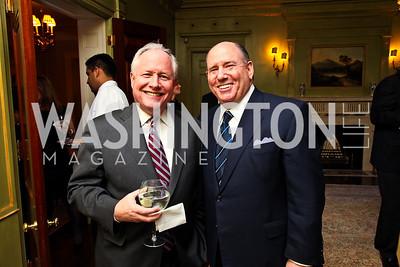 William Kristol, Wayne Berman. Senator Scott Brown Book Party. Photo by Tony Powell. Berman residence. April 6, 2011