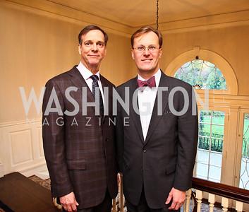 John Jeter, Paul Tetreault. Senator Scott Brown Book Party. Photo by Tony Powell. Berman residence. April 6, 2011