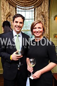 Ryan Thompson Dorinda Moss. Senator Scott Brown Book Party. Photo by Tony Powell. Berman residence. April 6, 2011