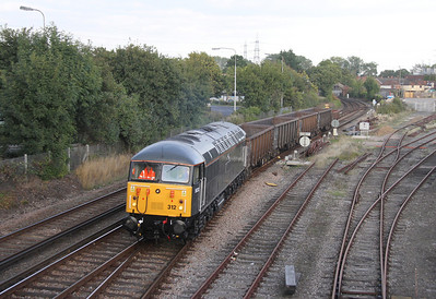 56312 Totton 20/09/13 arriving with 6Z56 Long Marston to Totton