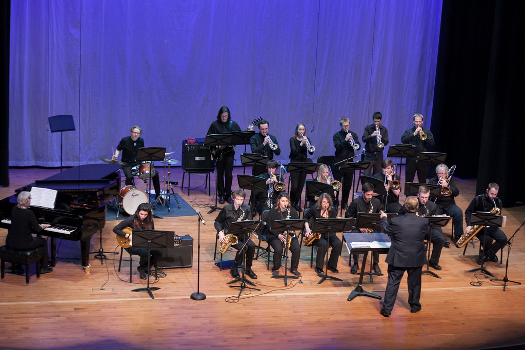 Tibby McDowell | The Sheridan Press<br /> The Sheridan College Jazz Ensemble performs at the Whitney Center for the Arts at Sheridan College Thursday, March 8, 2018.