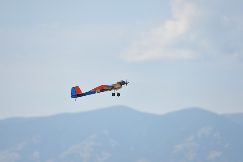 Ryan Patterson | The Sheridan Press<br /> A plane flies during the Sheridan Flying Cowboys R/C Club annual fly-in Sunday, Sept. 9, 2018. Forty-seven people participated in the multi-day event.