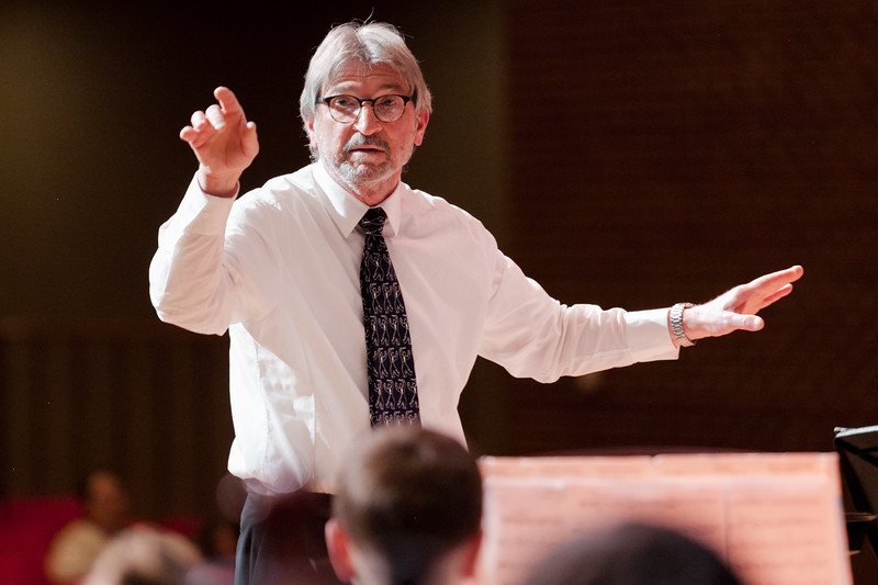 Tibby McDowell | The Sheridan Press<br /> Director Razmick Sarkissian led the orchestra during the concert at the Sheridan Junior High School Early Auditorium Wednesday, March 21, 2018.