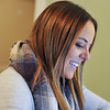Ashleigh Fox | The Sheridan Press<br>Chelsea Paulus works in her upstairs office in her home near Big Horn Tuesday, Nov. 6, 2018. Paulus is a speech pathologist and created a business that integrates home therapy for clients.
