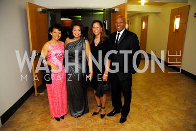 Marsha Plater, Queenie Plater, Melanie Yumore, James Adams, October 29,2011,Sibley Hospital Hope And Progress Gala,Kyle Samperton