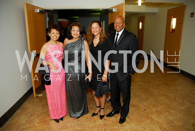 Marsha Plater, Queenie Plater, Melanie Yumore, James Adams, October 29,2011,Sibley Hospital  Hope And Progress Gala,Kyle Samperton