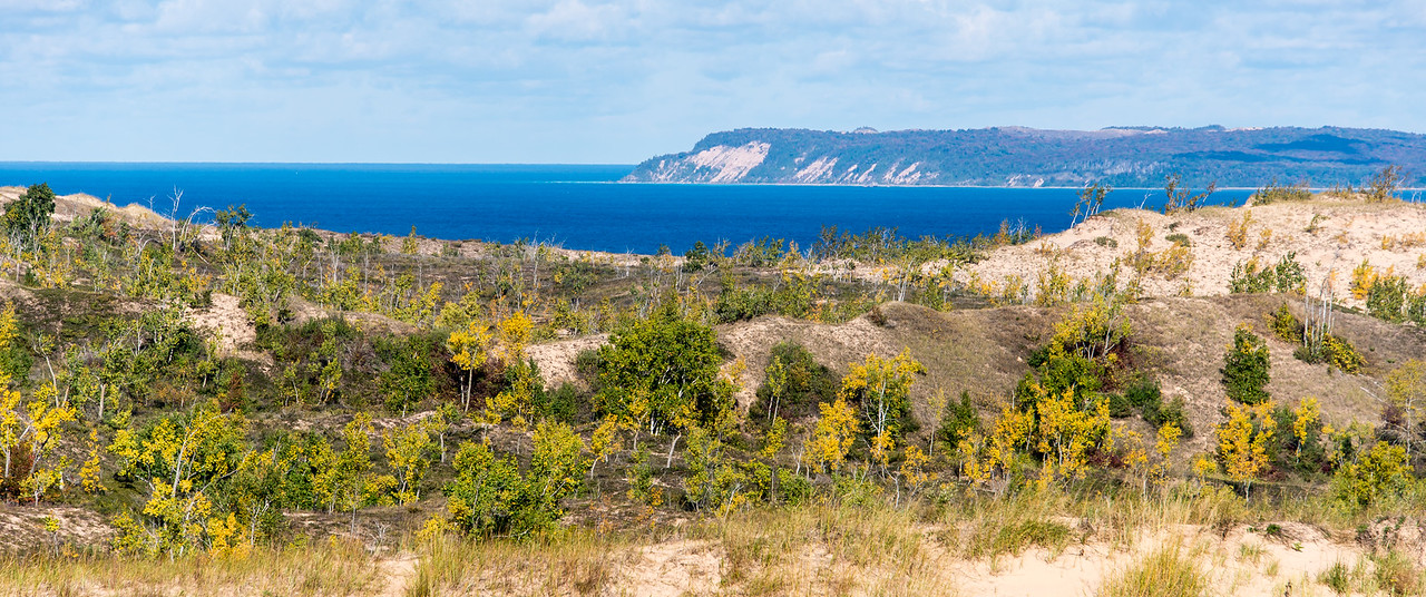 View of Lake Michigan from Sleeping Bear Dunes, MI - October 2014
