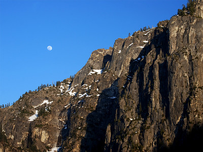 Moon Rise over Cathedral Rock - Yosemite National Park